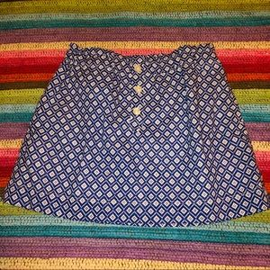 NWT Crewcuts By J. Crew Navy White Stretchy Skirt